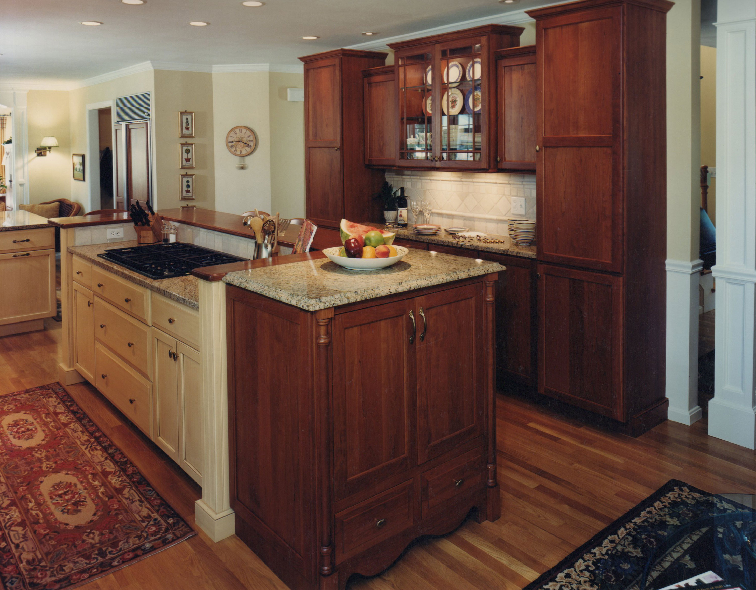 kitchen island with cooktop digital timers country  currier kitchens