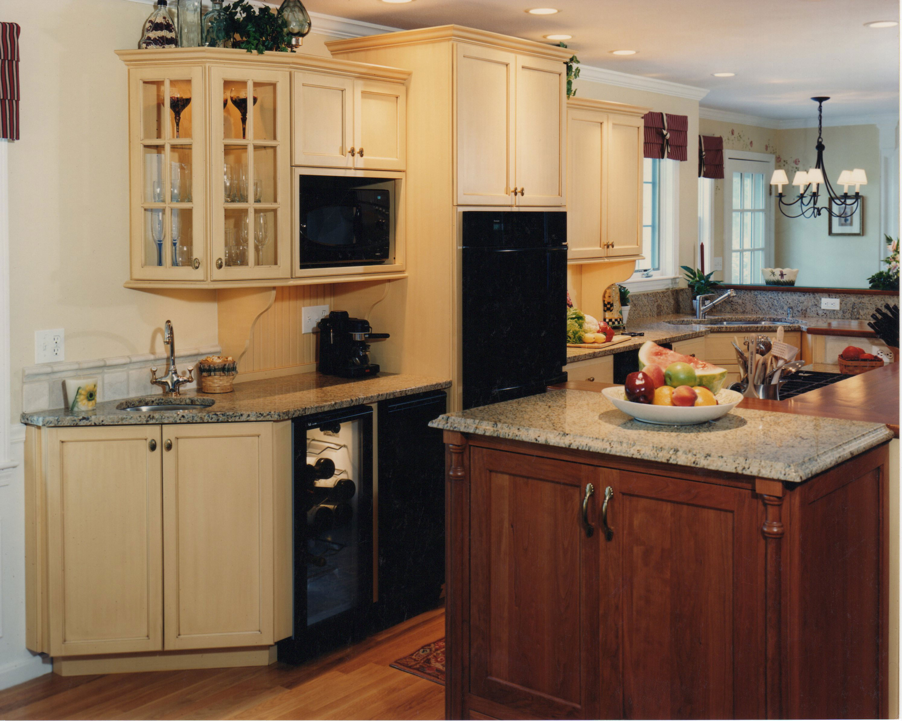 Country Kitchen  Island Cooktop