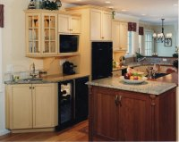 Country Kitchen  Island Cooktop | Currier Kitchens