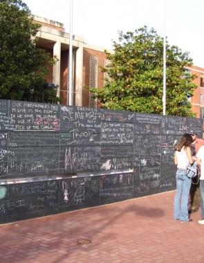 The Monument to Free Speech in Charlottesville, Virginina