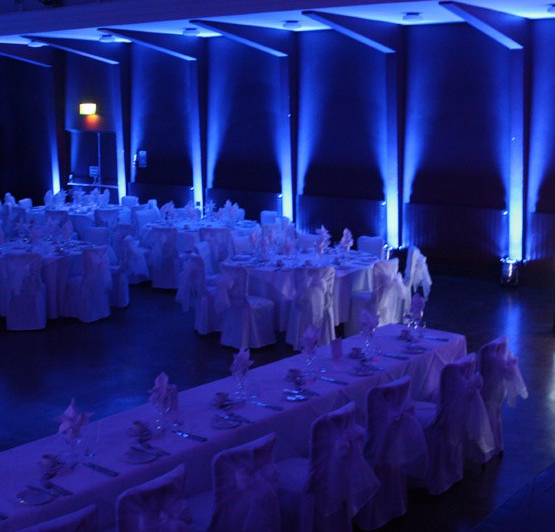 Uplighting - Blue - Curry Event Services