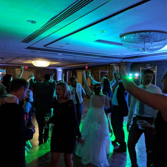 Curry Events Multicolored Dancefloor lights at Hotel Viking, Newport RI