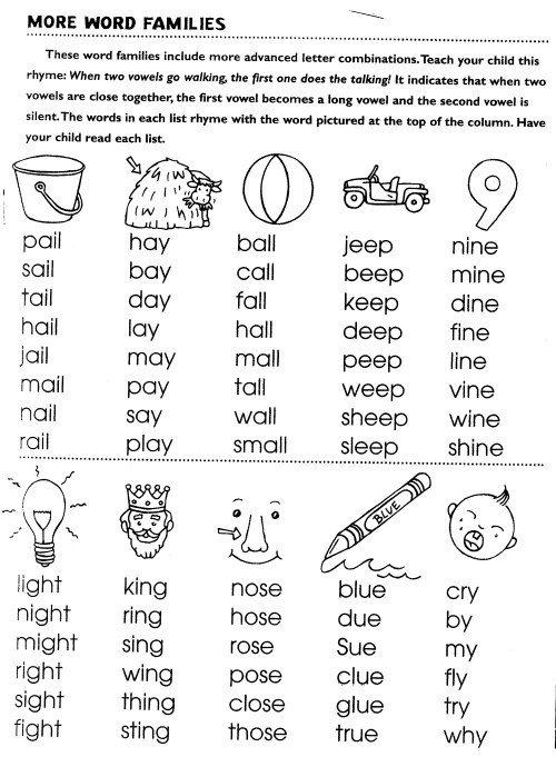 small resolution of Rhyming Words Worksheet In   Printable Worksheets and Activities for  Teachers