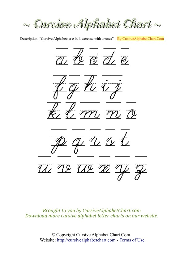 Cursive writing letters a to z pdf docoments ojazlink