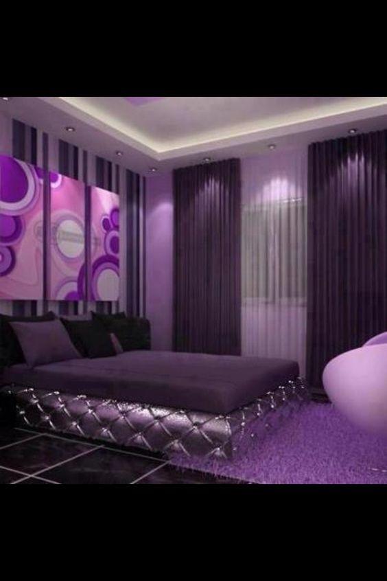 Decoracion de habitaciones en color morado 19  Curso de Decoracion de interiores