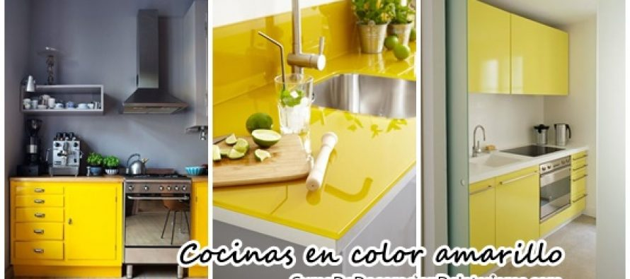 Animate a decorar tu hogar con cocinas amarillas