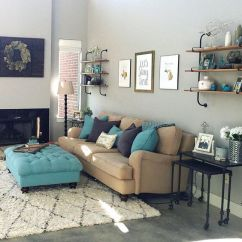 Sears Living Room Couches Decorating Small Narrow Rooms 33-decoraciones-para-salas-de-estar-en-color-azul-turquesa ...