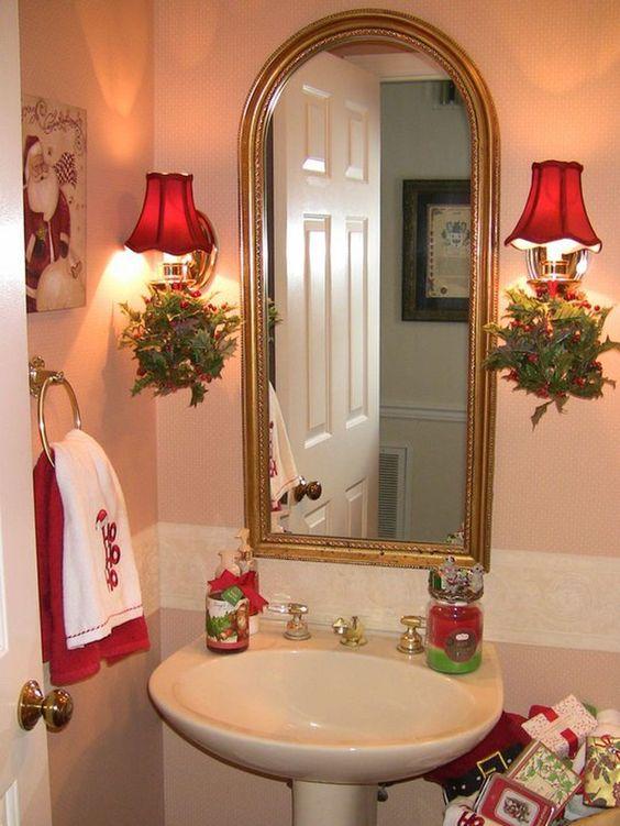 Ideas para Decorar el Bao en Navidad  Decoracion de