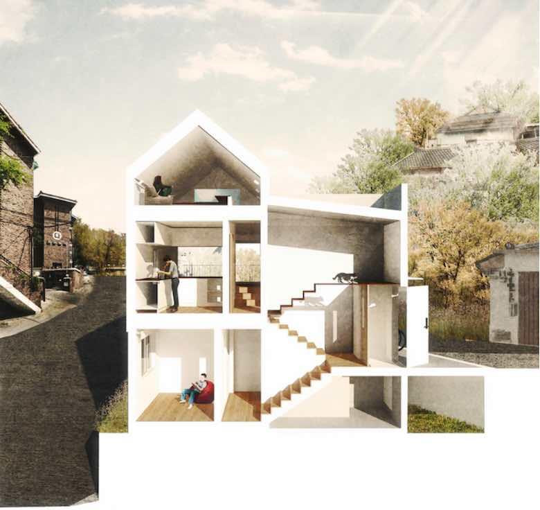 Planos de Casas de dos pisos  Para terrenos de 86 m2
