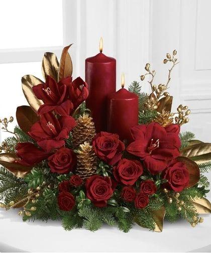 Decoracion Navidad Rojo Con Dorado 13 Curso De