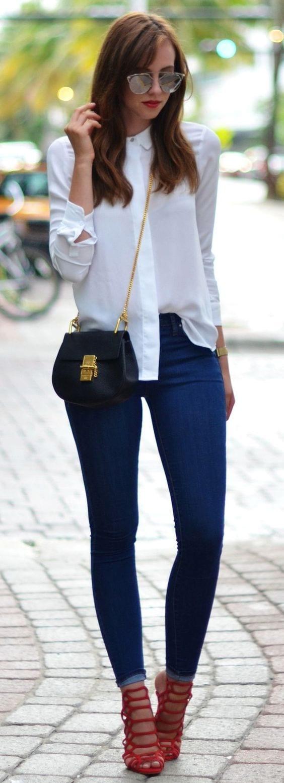 Jeans White Shirt  Red Heels  Curso de Organizacion del