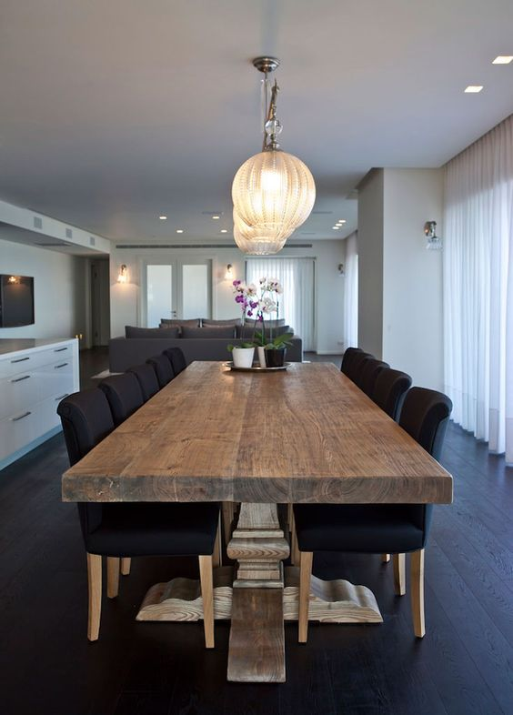 Mesas rusticas modernas 25  Curso de Organizacion del hogar y Decoracion de Interiores