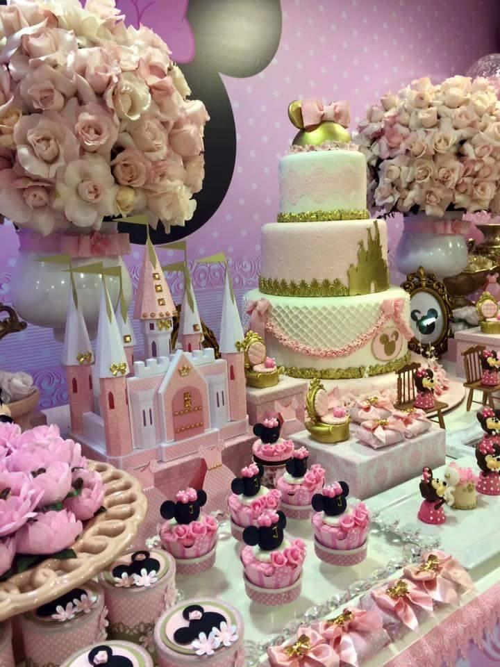 Decoracion de fiesta de cumpleaos de Minnie 6  Curso