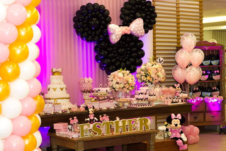 Decoracion de fiesta de cumpleaos de Minnie 7  Curso