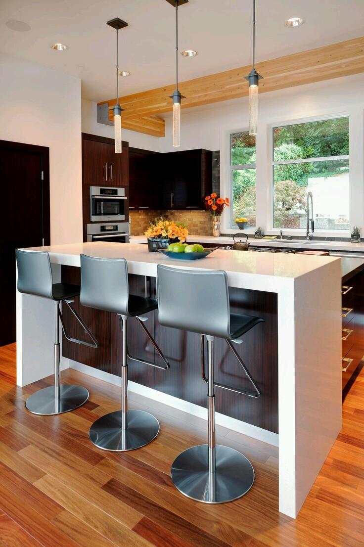 Ideas para complementar tu cocina con desayunadores o