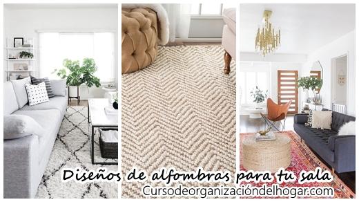 26 diseos de alfombras para salas de estar  Curso de