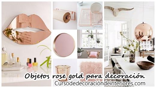 40 Objetos rose gold para decorar tu casa  Curso de