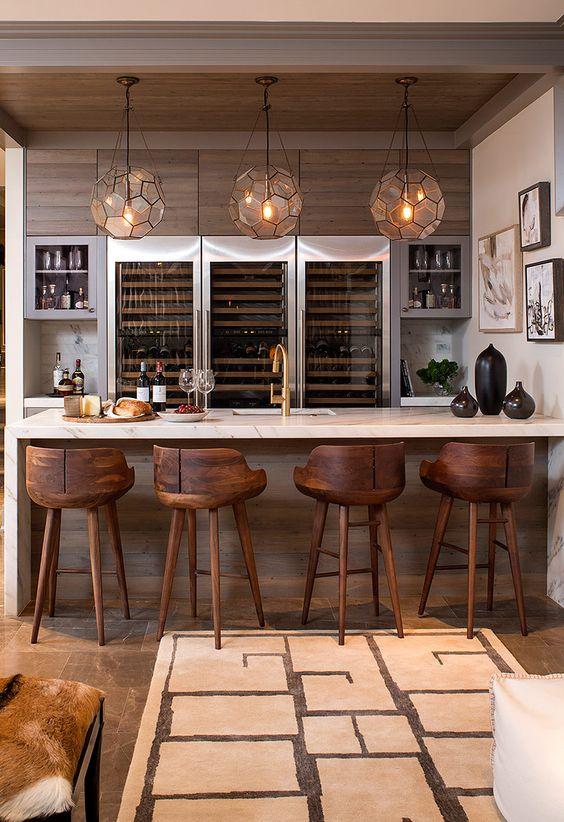 bar en casa minimalista  Curso de Organizacion del hogar