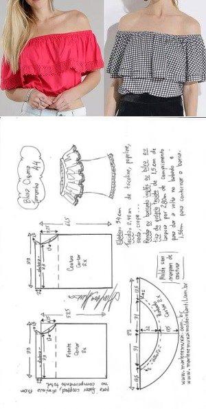 Moldes para ropa de moda  Moldes de ropa con medidas