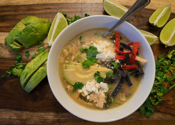 This is the easiest recipe for Green Chili Chicken Pozole you'll find!