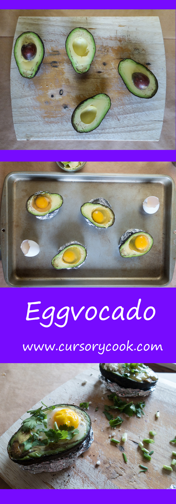 An egg baked in an avocado?! Best breakfast ever.
