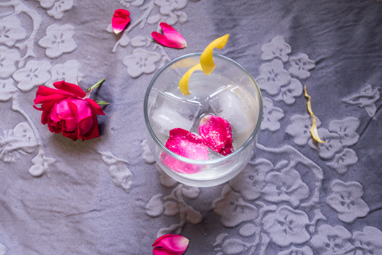 A rose and citrus vodka cocktail to ring in the best month of the year