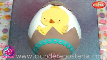 Torta Decorada como Huevo de Pascua por Rosa Quintero