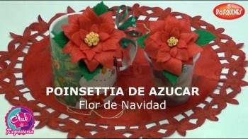 Poinsettias de Fondant por Rosa Quintero