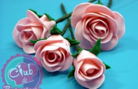 Rosas de Fondant por Rosa Quintero