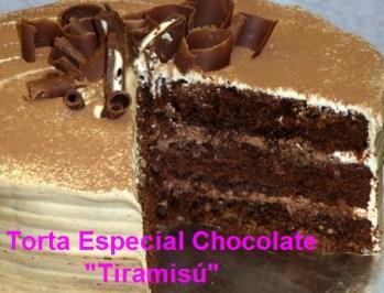 Torta Especial de Chocolate Tiramisú por Rosa Quintero