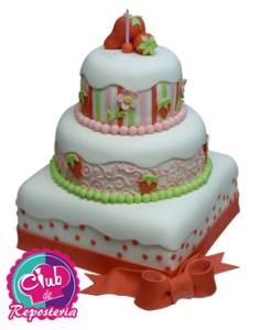 Torta Decorada Tema Fresita por Rosa Quintero