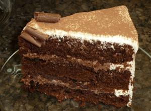 Slice torta de chocolate tiramisú por Rosa Quintero