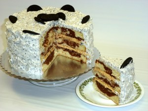Torta Vainilla Choco Decorada Buttercream Oreo por Rosa Quintero