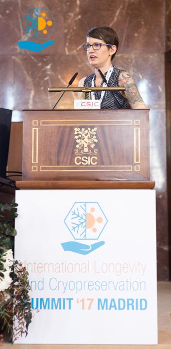 Chana Phaedra habla sobre criopreservación en el ILC Summit ´17.