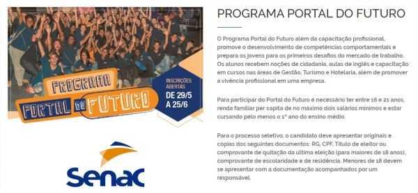Cursos e Empregos Programa-Portal-do-Futuro-Senac-RJ-2017-4 Programa Portal do Futuro Senac RJ 2017  Cursos e Empregos Programa-Portal-do-Futuro-Senac-RJ-2017-1 Programa Portal do Futuro Senac RJ 2017