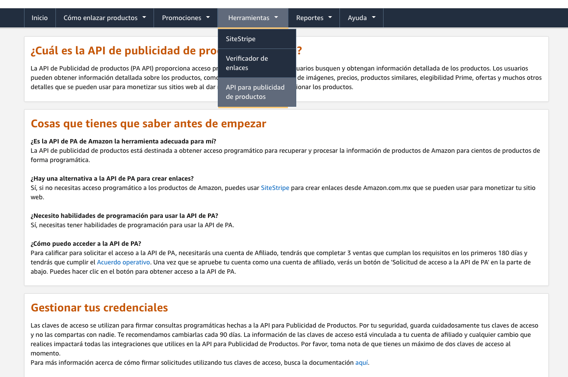 amazon afiliados API