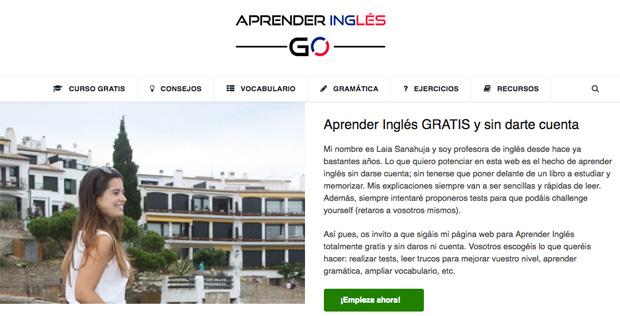 aspecto de la web aprender inglés