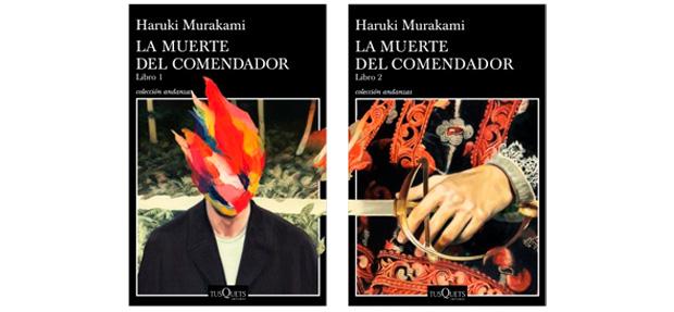 Portadas de los dos volúmenes de La muerte del comendador