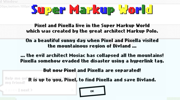 super markup world para aprender jugando