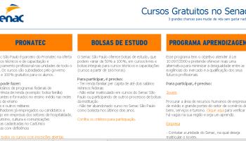 +90 mil vagas em cursos gratuitos com certificado no Senac