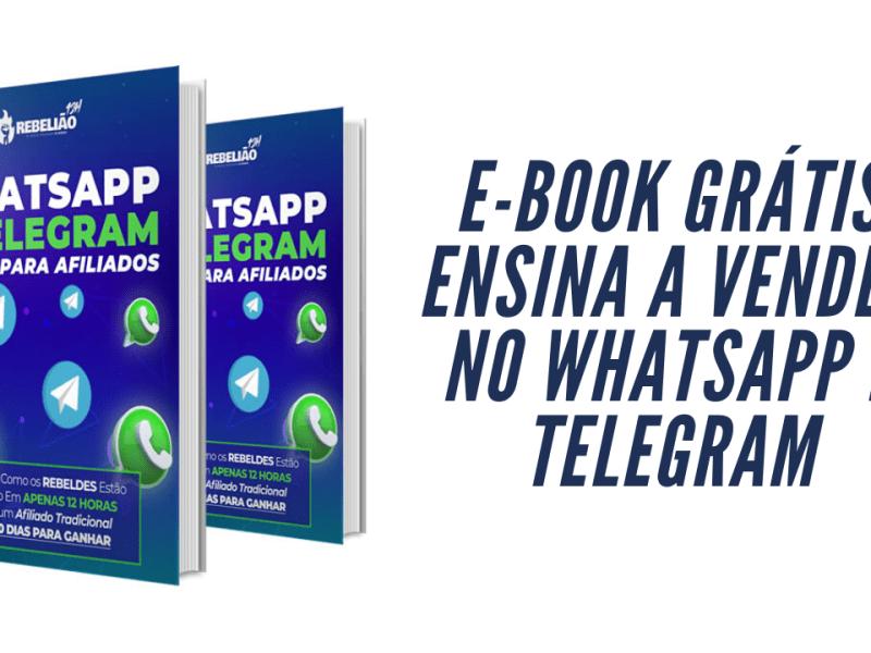 e-book grátis ensina a vender no whatsapp e telegram