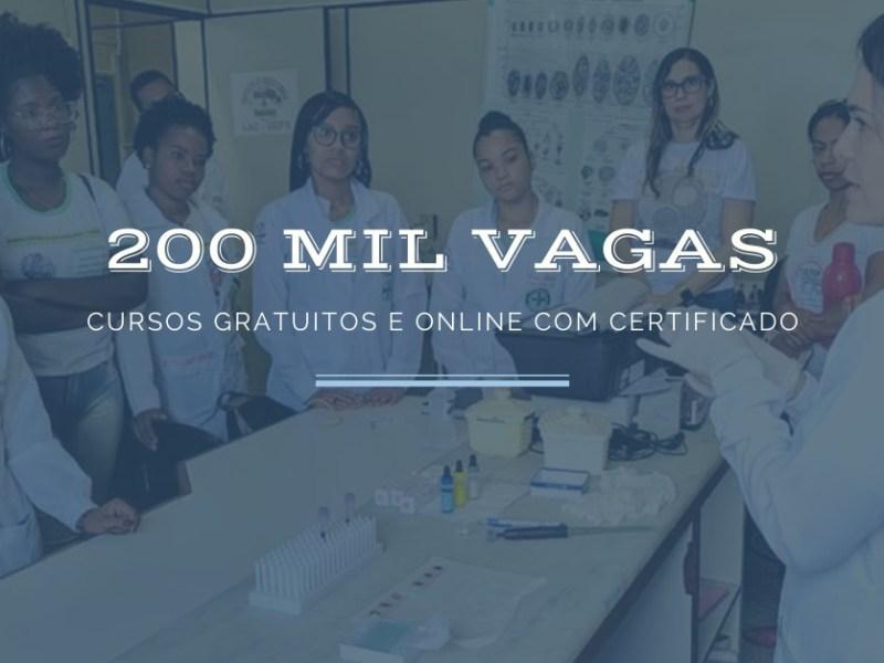 200 mil vagas em cursos gratuitos e online com certificado