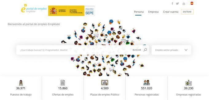 Empléate, portal de empleo del SEPE