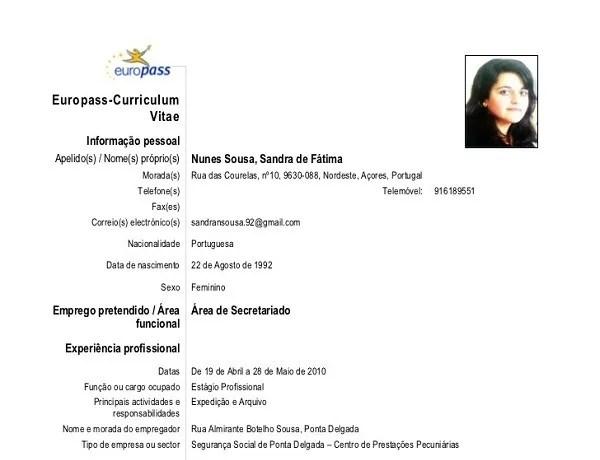 Curriculum Vitae Europass Plantilla Resume Cover Letter