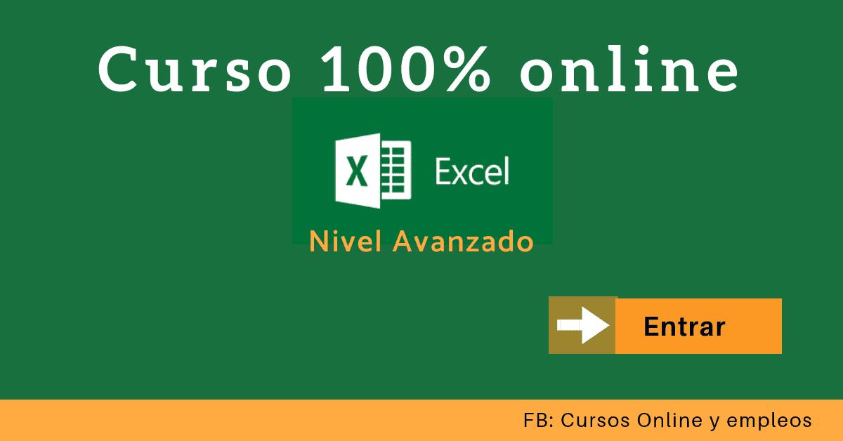 Curso de Excel avanzado y online