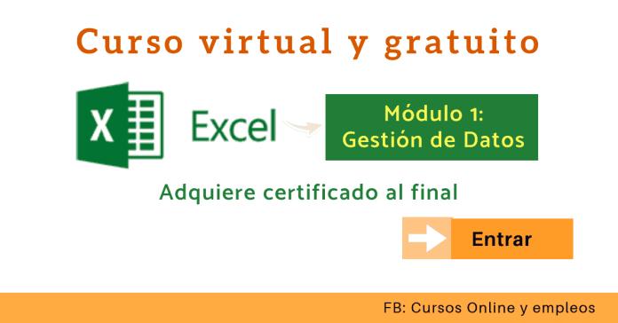Curso de Excel online gestión de datos