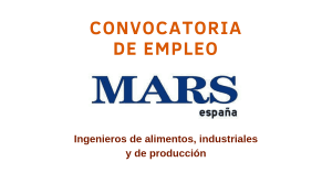 Mars Company ofertas de empleo España