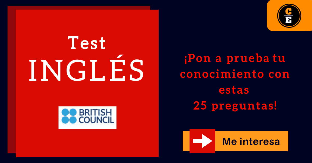 British Council learning english test prueba