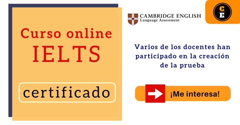 IELTS online certificado curso online