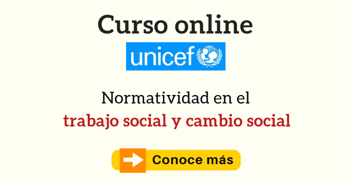 cursos en línea UNICEF trabajo social